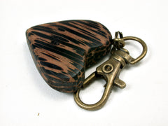 LV-2030 Black Palm Wooden Heart Charm, Keychain, Wedding Favor-HAND CARVED