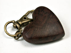 LV-2029 Manzanita Burl Wooden Heart Charm, Keychain, Wedding Favor-HAND CARVED