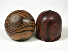 LV-2082 Wooden Acorn Pill Box, Jewelry/Engagement Ring Box from Cocobolo & Bocote-SCREW CAP