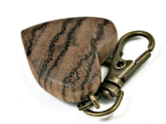 LV-2037 Zebrawood Wooden Heart Charm, Keychain, Wedding Favor-HAND CARVED