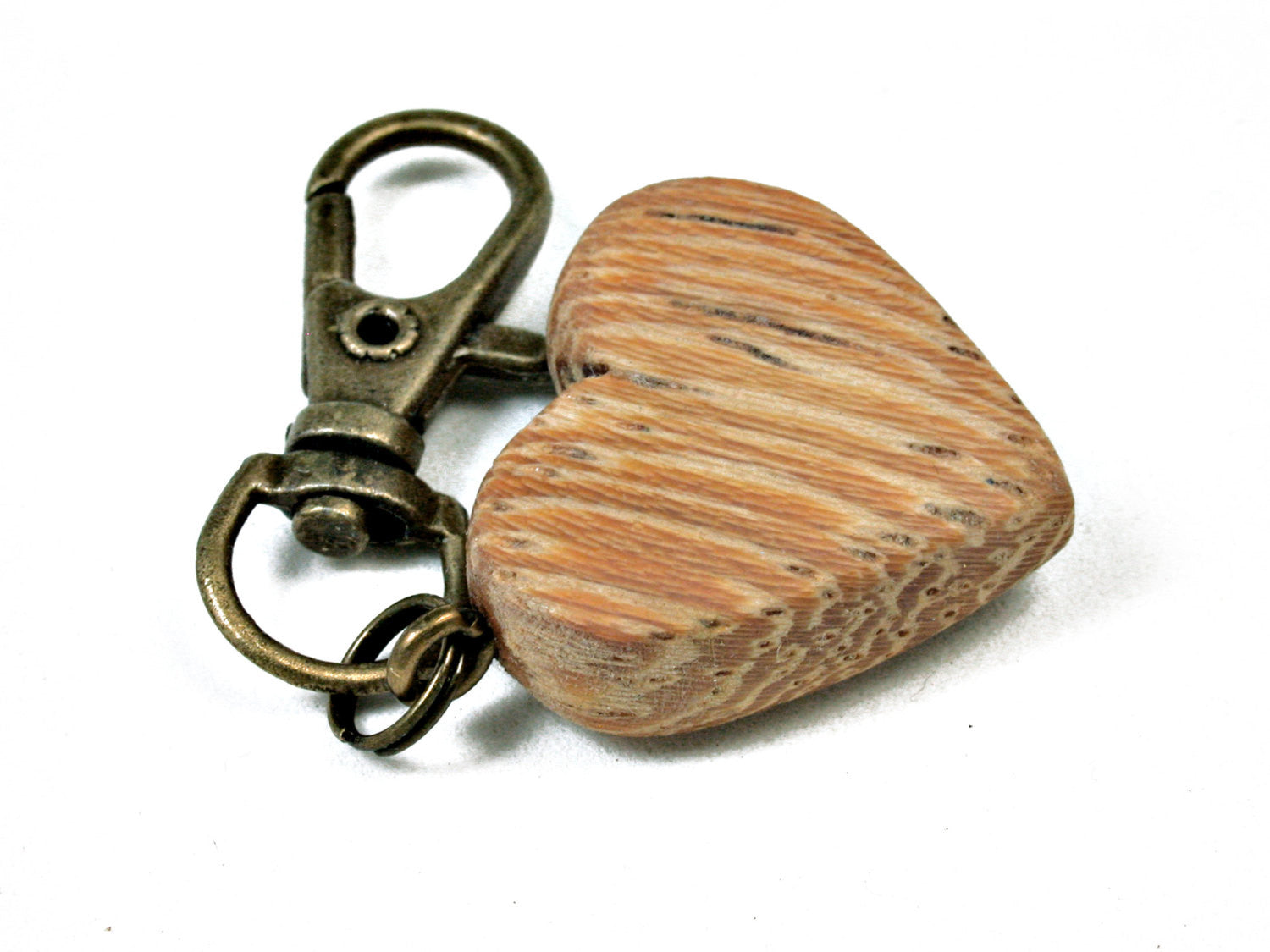 LV-2039 Lati Wooden Heart Charm, Keychain, Wedding Favor-HAND CARVED