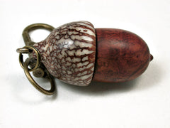 LV-2104 Acorn Pendant Box, Charm, Pill Holder from Logwood Burl & Betelnut-SCREW CAP