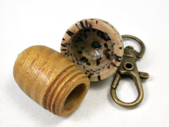 LV-2190 Acorn Pendant Box, Charm, Pill Holder from Osage Orange & Yollilo Palm Nut-SCREW CAP