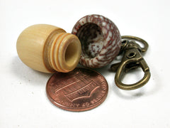 LV-2195 Acorn Pendant Box, Charm, Pill Holder from Boxwood & Betelnut-SCREW CAP
