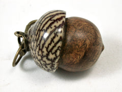 LV-2189 Pollyanna Burl & Betelnut Acorn Pendant Box, Charm, Pill Holder-SCREW CAP