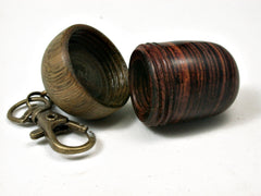 LV-2202 Cocobolo & Verawood Acorn Pendant Box, Charm, Pill Holder-SCREW CAP