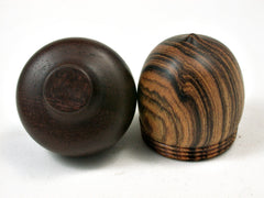 LV-2260 Bocote & Maga Acorn Jewelry, Ring Box, Pill Box, Trinket Box-SCREW CAP