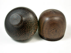 LV-2277 Pheasantwood & Black Palm Acorn Jewelry, Ring Box, Pill Box, Trinket Box-SCREW CAP
