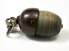LV-2214 Verawood & Partridgewood Acorn Pendant Box, Charm, Pill Holder-SCREW CAP