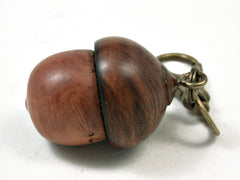 LV-2315 Briar Burl & Ironwood Acorn Pendant Box, Charm, Pill Holder-SCREW CAP