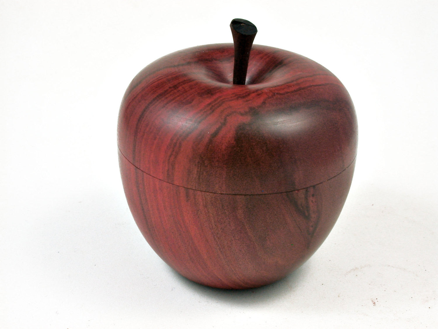 LV-2324 Redheart Wooden Apple Threaded Box-SCREW CAP