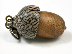 LV-2304 Acorn Pendant Box, Charm, Pill Holder from Nagusta Burl & Betelnut-SCREW CAP