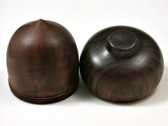 LV-2385 Camphor Burl & Kou Acorn Jewelry Box, Pill Box, Trinket Box-SCREW CAP