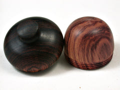 LV-2405 Tulipwood & Cocobolo Acorn Jewelry Box, Pill Box, Trinket Box-SCREW CAP