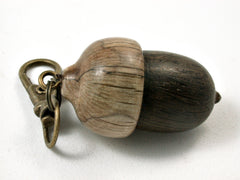 LV-2409 English Bog Oak & Live Oak Acorn Pendant Box, Bag Charm, Keychain-SCREW CAP
