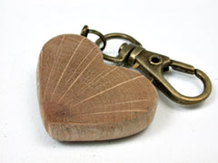 LV-2456 Live Oak Wooden Heart Charm, Keychain, Wedding, Anniversary Gift-Hand Made