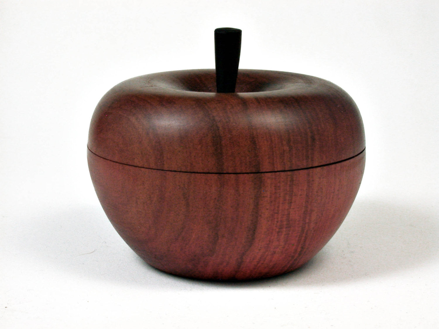 LV-2508 Redheart Wooden Apple Threaded Box-SCREW CAP