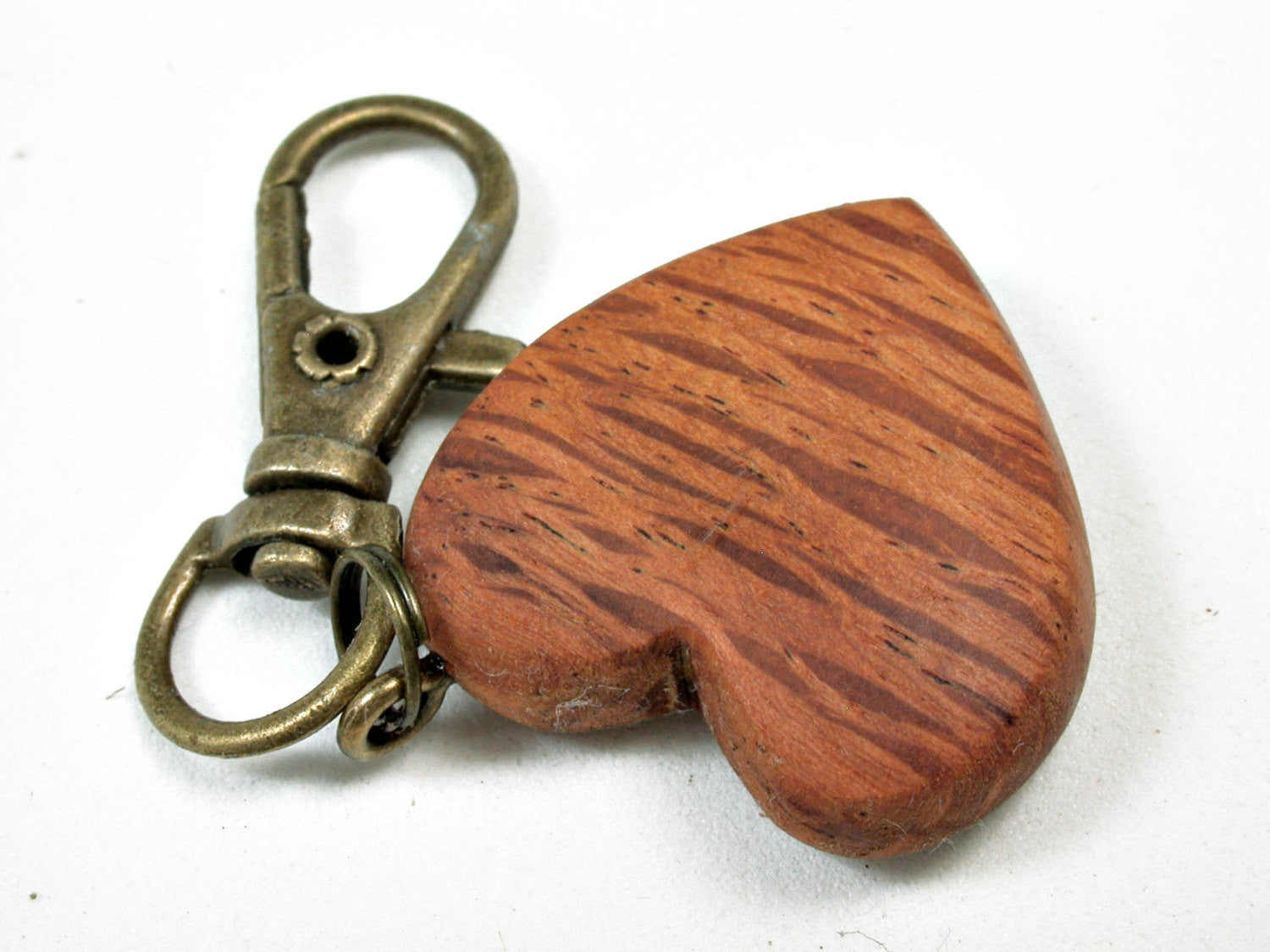 LV-2551 Australian Sheoak Wooden Heart Charm, Keychain, Wedding Gift-Unique Hand Made