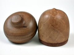 LV-2582 Madrone Burl with Chechen Acorn Jewelry, Ring Box, Pill Box-SCREW CAP