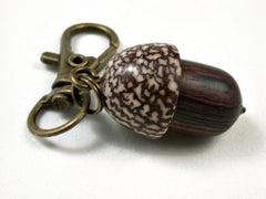 LV-2531 Camatillo & Betelnut  Acorn Pendant Box, Charm, Pill Holder-SCREW CAP
