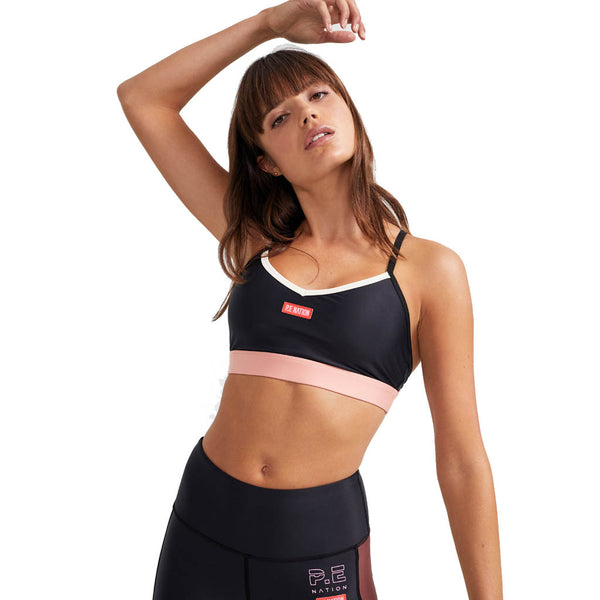PE Nation Point Forward Sports Bra