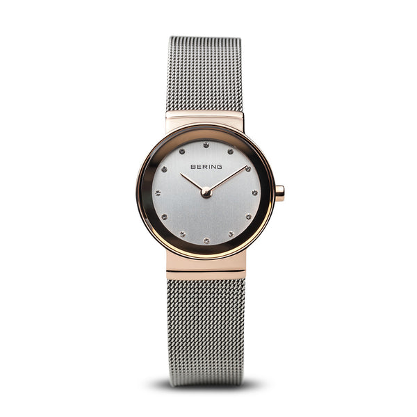Bering Ladies Two Tone, Rose with Swarovski