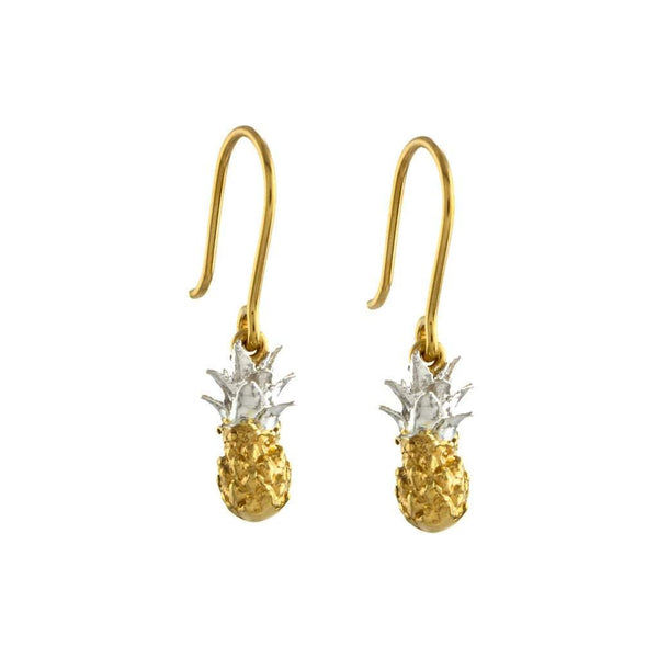 Alex Monroe Baby Pineapple Hoop Earrings