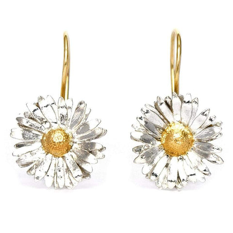 Alex Monroe Big Daisy Hook Earrings
