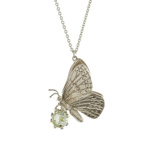 Alex Monroe Duke Burgundy & Green Amethyst Necklace