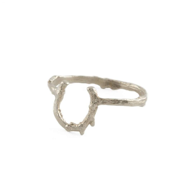 Alex Monroe Little Twig Horseshoe Ring