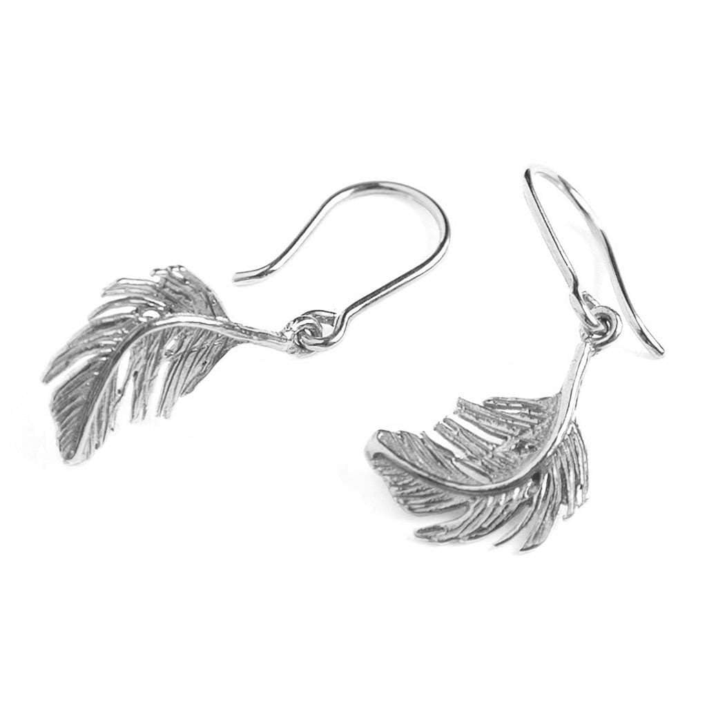 Alex Monroe Small Feather Hook Earrings
