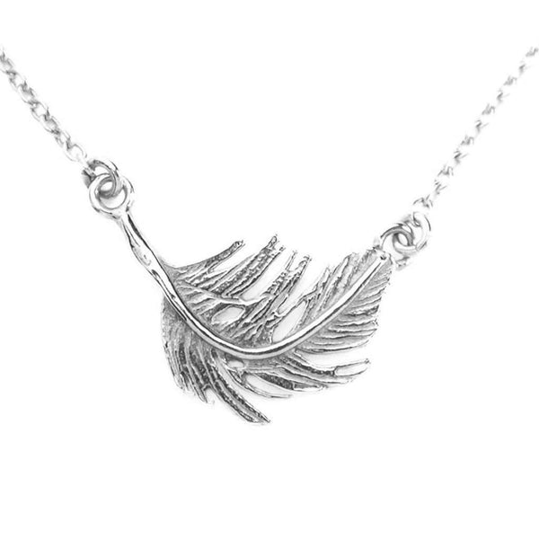 Alex Monroe Small Feather In-Line Necklace