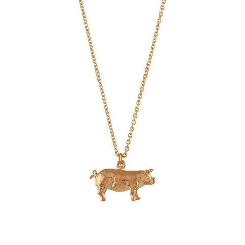 Alex Monroe Suffolk Pig Necklace