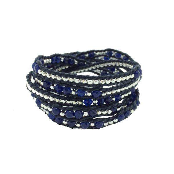 Code Love 5 Wrap Bracelet A Mother's Love Navy