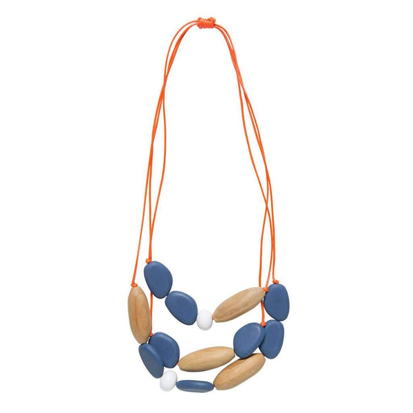 Elk Triple Strand Pod Necklace