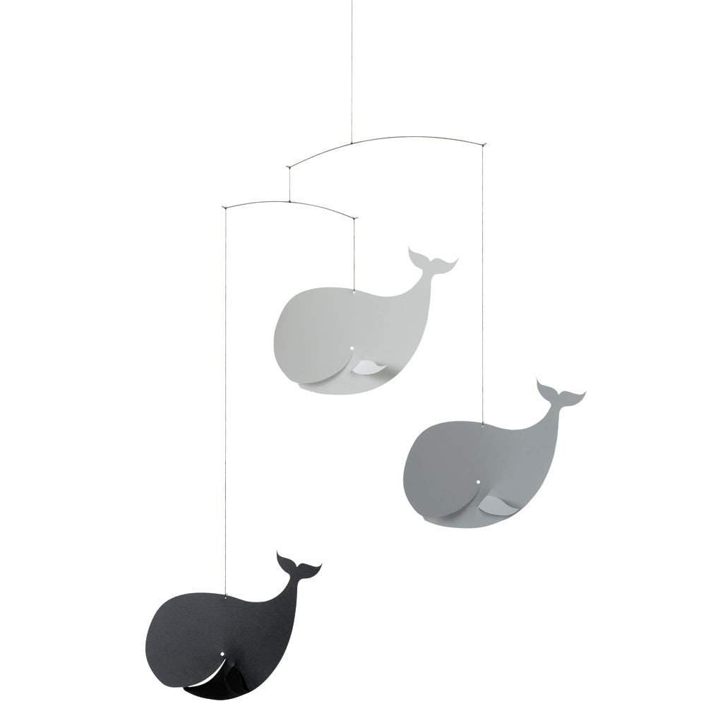 Flensted Black/Grey Happy Whales Mobile