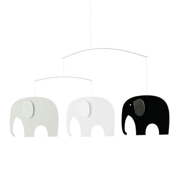 Flensted Elephant Party Mobile Black/Grey