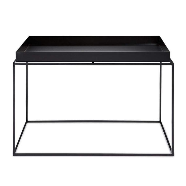 Shop Aira Black Square Coffee Table With Modern White Tray: Living Room Accessories & Room Decor