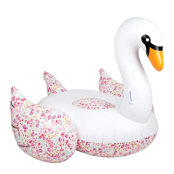Luxe Inflatable Pool Float Liberty Swan