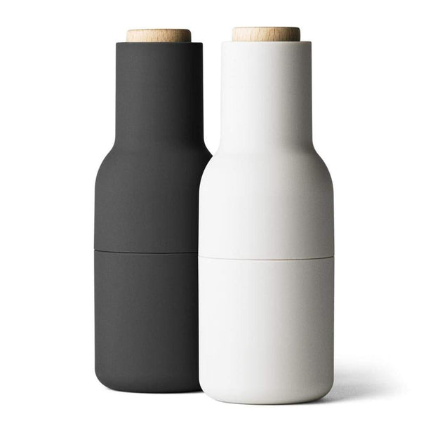 Menu Bottle Grinder Set Ash/Carbon w Beech Lid