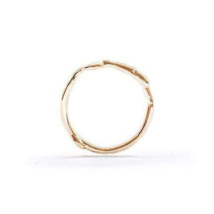 Natalie Marie Organic Rose Gold Band