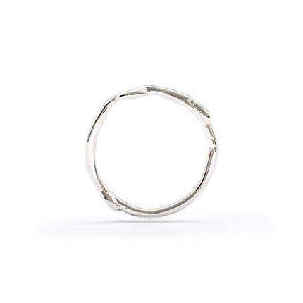 Natalie Marie Organic Silver Band