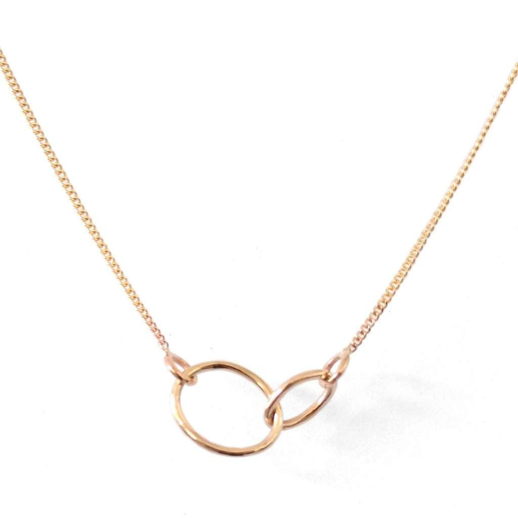 Natalie Marie Small Loop Through Oval Necklace