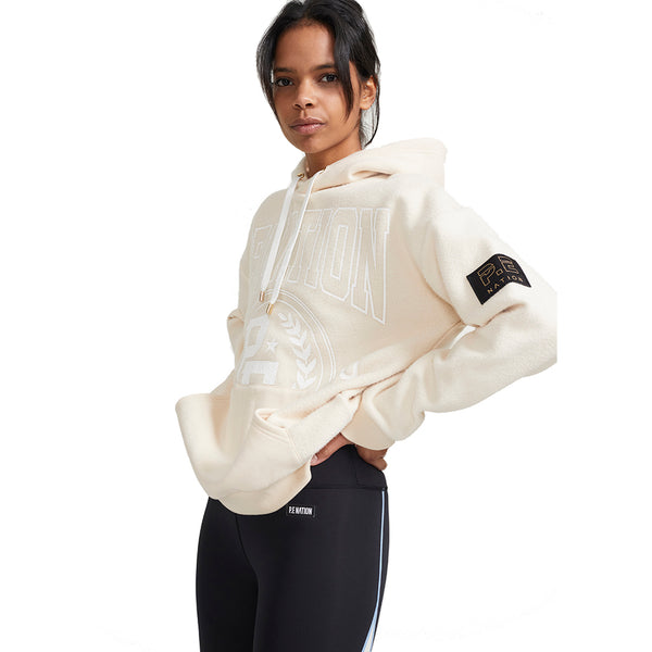 PE Nation Pearled Ivory Lay Up Hoodie