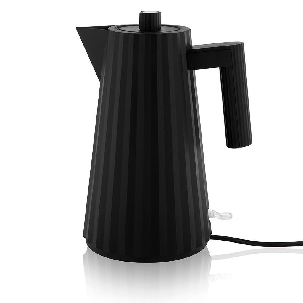 Alessi Black Plisse Electric Water Kettle
