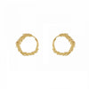 Alex Monroe Plume Loop Stud Earrings