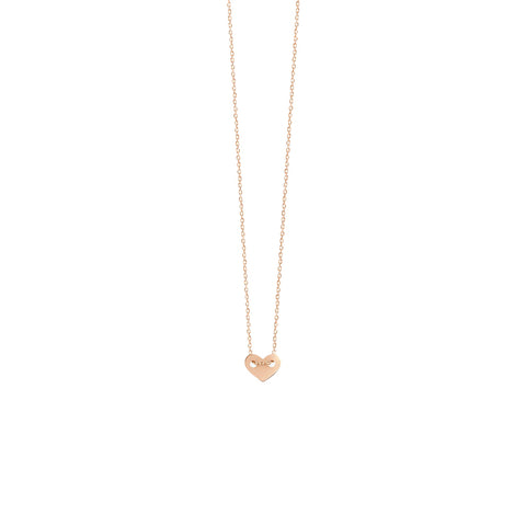 Vanrycke Angie Rose Gold Full Heart Necklace XS