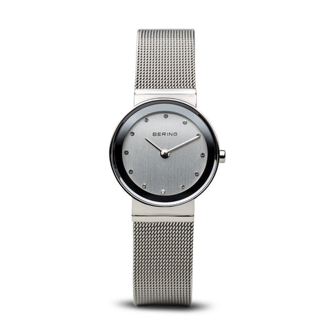 Bering Ladies Stainless Steel Watch with Mirror border and Swarovski crystals