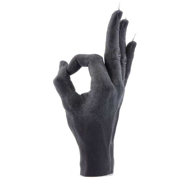Candle Hand OK Candle Black