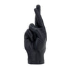 Candle Hand Crossed Fingers Candle Black